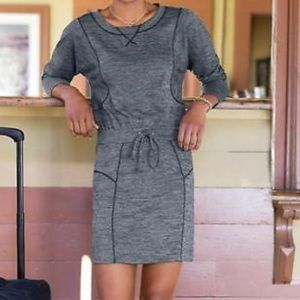 Athleta Give It Your All Dress - Charcoal Heather